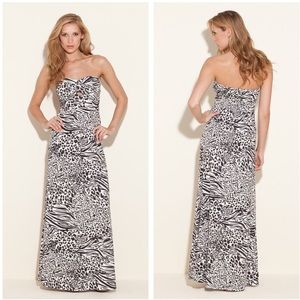 NEW Guess Adele maxi dress - animal fiesta print